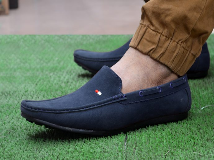 Blue feetway suede casual loafers for men