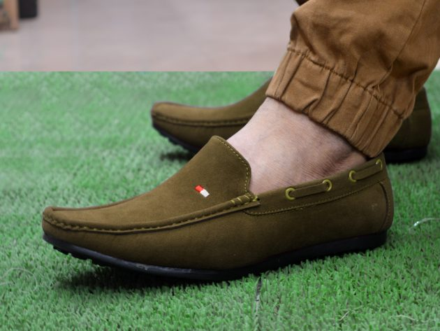 Green Loafers Men