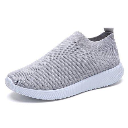 Slip on mesh running shoes for men