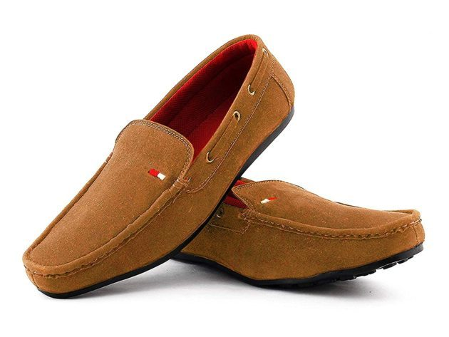 Suede Loafers For Men Tan Colour