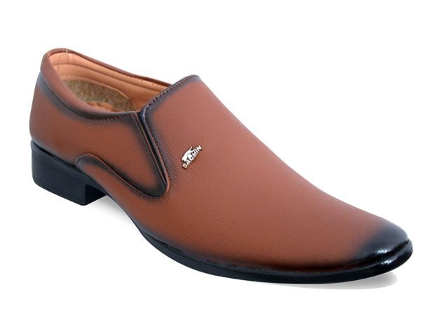 WITHOUT LACE SLIP ON FORMAL SHOES FOR MEN TAN