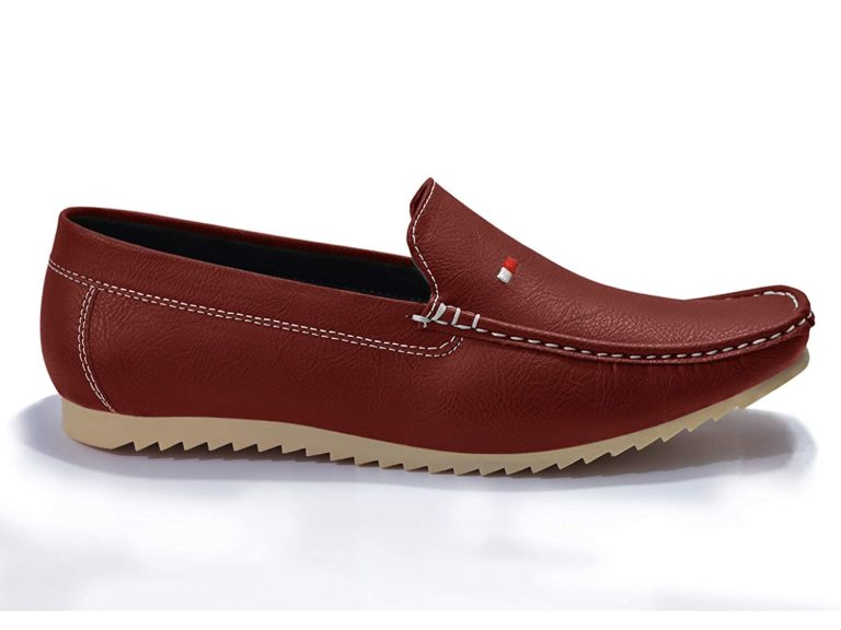 Brown Semi Formal Loafers For Men