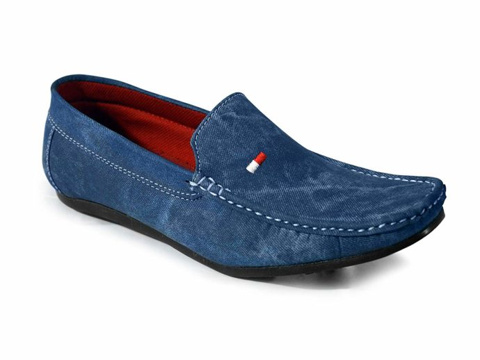 Denim Blue Casual Loafers For Men