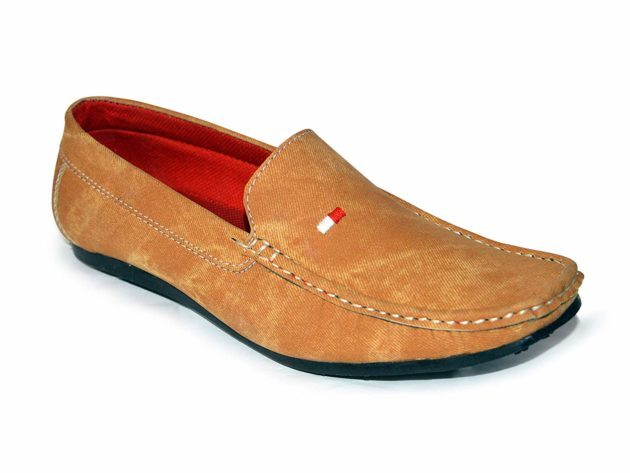 Denim Tan Casual Loafers For Men