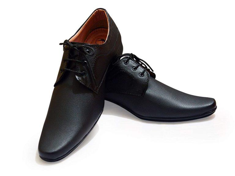 Black Derby Lace Shoes Men Feetway