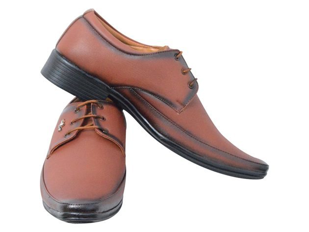 Lace Up Tan Formal Shoes