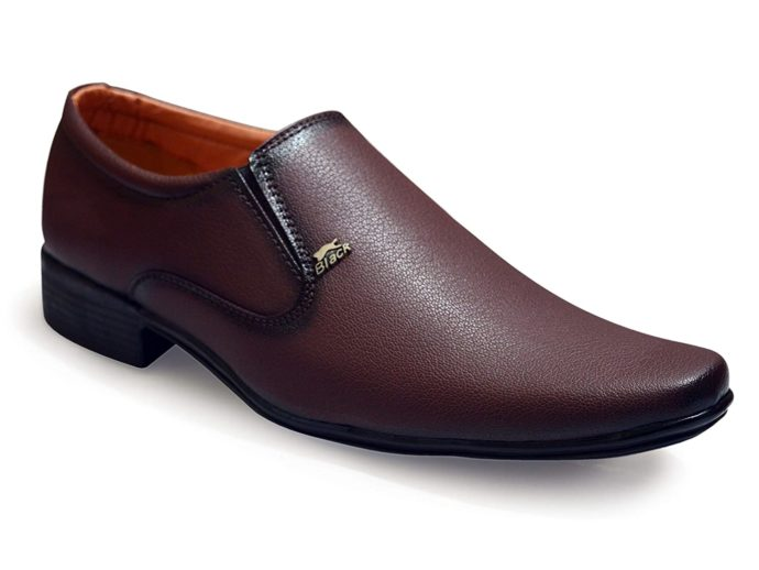 Without lace brown formal shoes