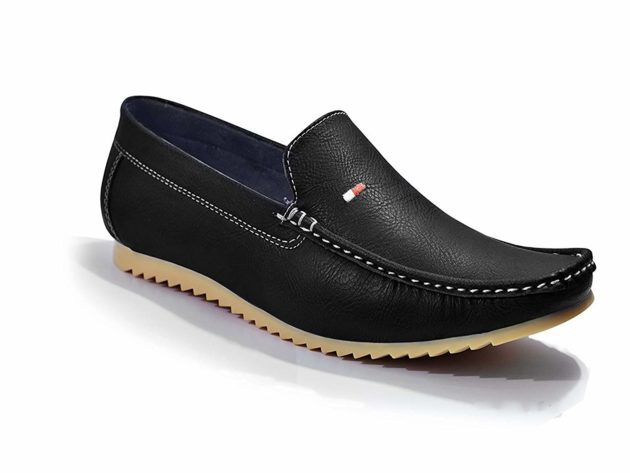 Black Semi Formal Loafers for men