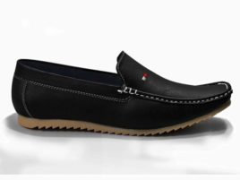 black semi formal loafers for men  semi casual shoes