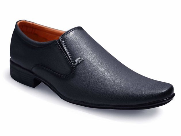 Withou lace Slip On Formal Shoes Black RKM