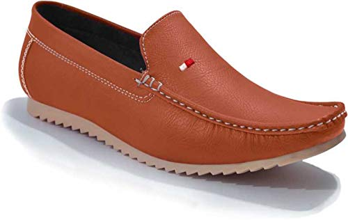 Tan Casual Loafers For Men