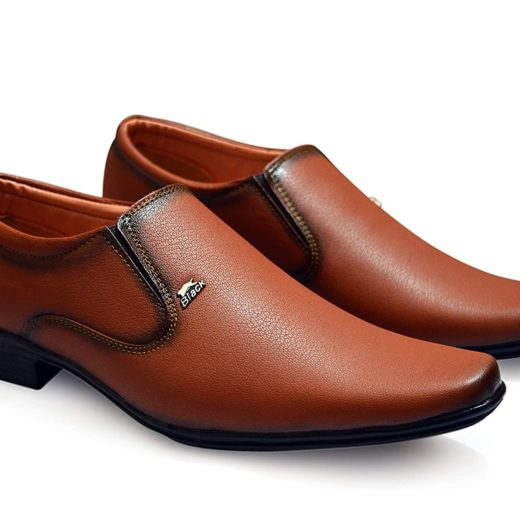 Tan Formal Shoes Without Lace