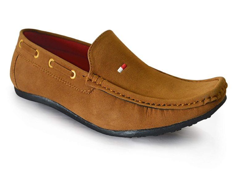 Tan Loafers For Men suede leather