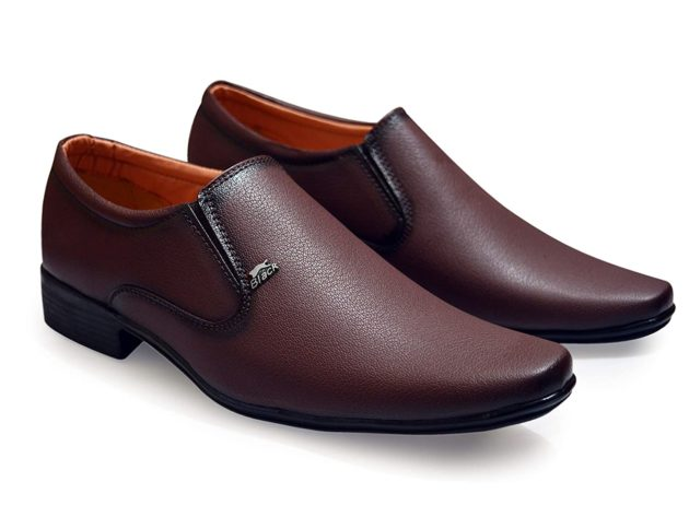 feetway brown men's formal shoes