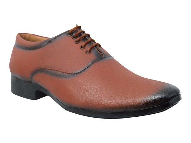 oxford tan formal shoes