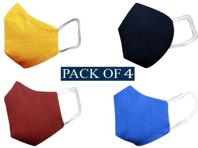 Pack Of 4 Khadi Made In India Mask