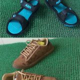 Floater With Casual Sneakers brown