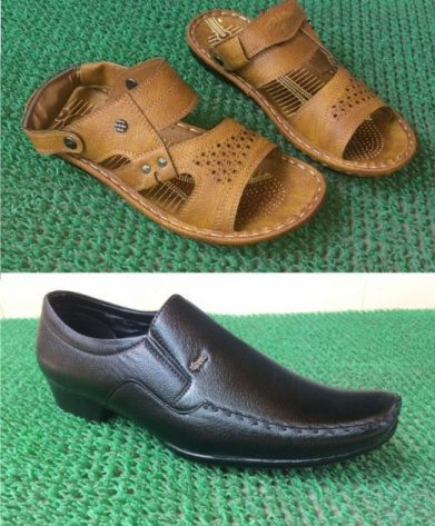 formal shoes black sandal combo