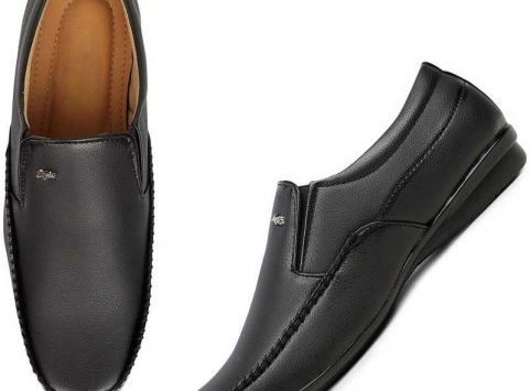 feetway leather formal shoes black