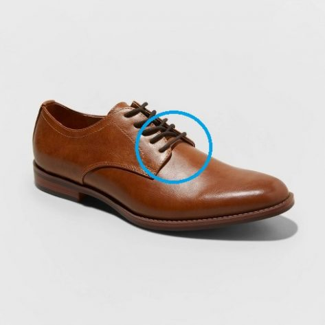 open laced formal shoes