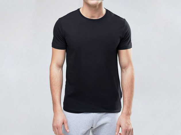 PURE COTTON BLACK T SHIRT