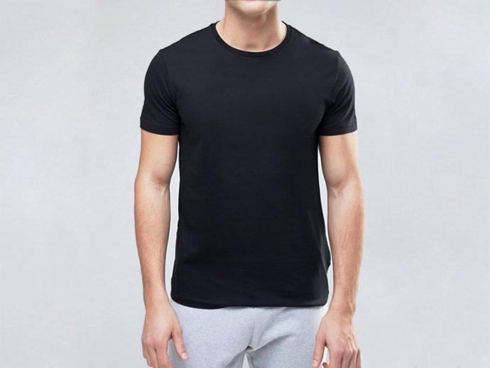 PURE COTTON BLACK T SHIRT