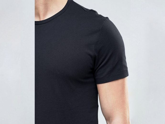pure black men's t shirt