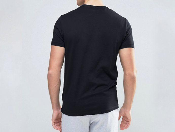 black cotton t shirt men