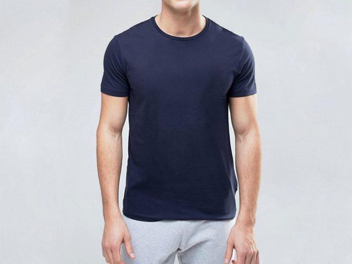 Pure Cotton Blue T-Shirt