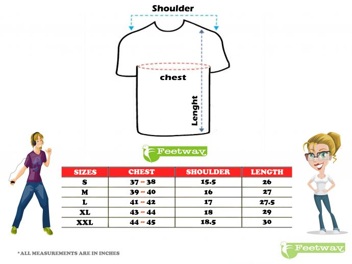 t shirts size chart
