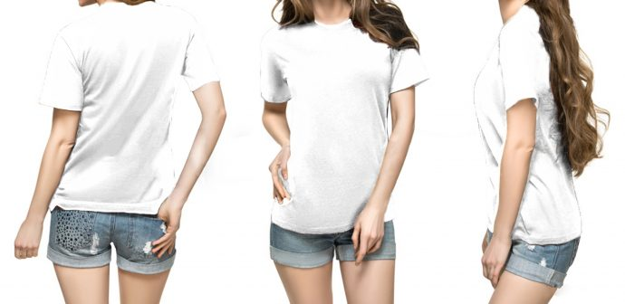 PURE COTTON T SHIRT WHITE FOR WOMEN GIRL LADIES