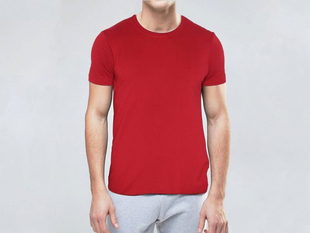 Pure Cotton Feetway Smooth Premium Quality T-Shirt For Men And Women Red
