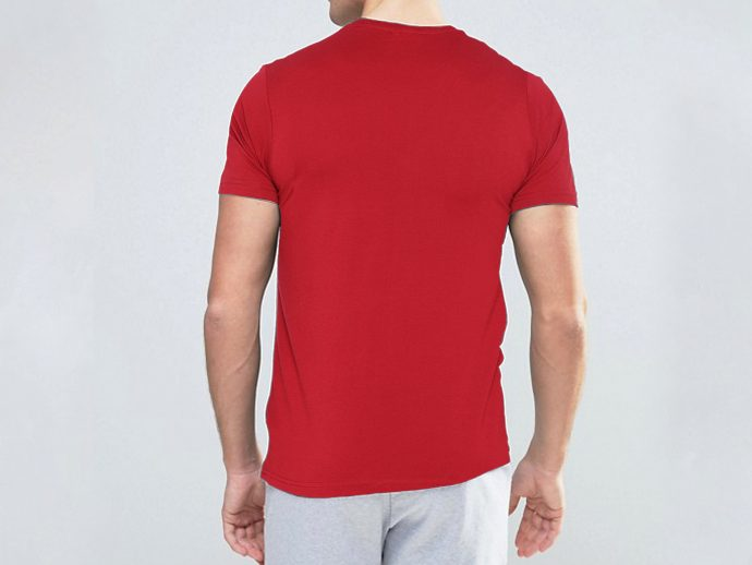 Pure Cotton Feetway Smooth Premium Quality T-Shirt For Men And Women Red4