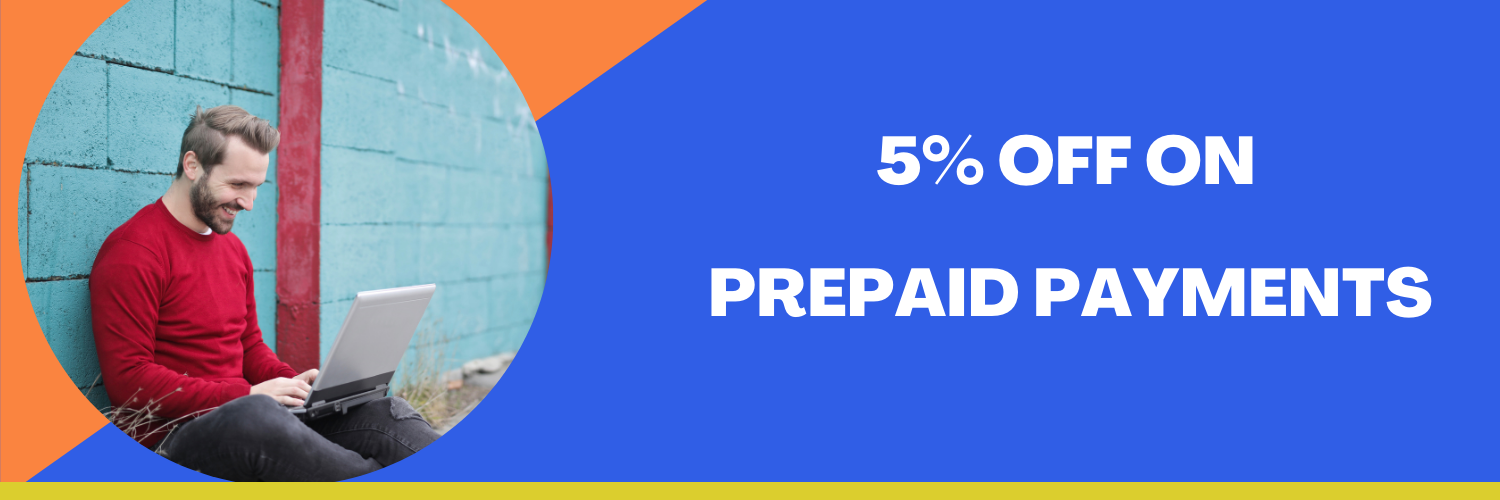 5% Off ON PREPAID PAYMENT