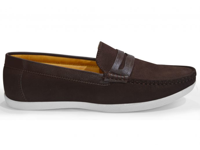 flat white sole coffee loafers