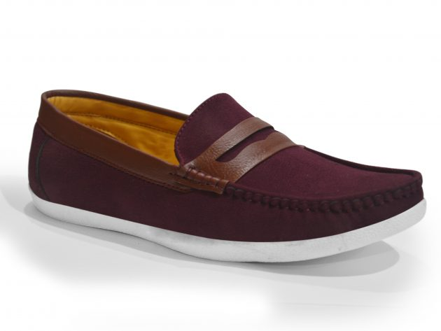 Red casual loafers for men