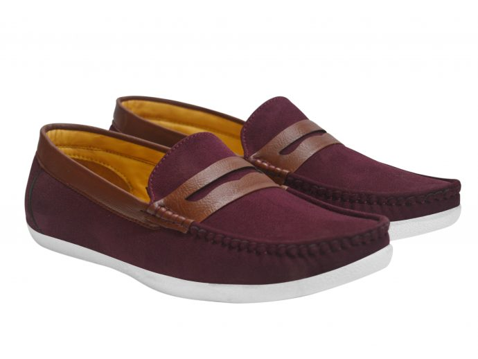 Red Stylish Loafers Men