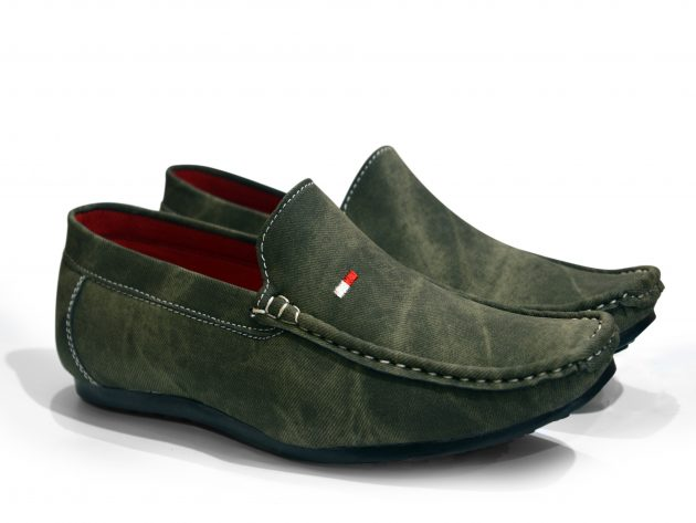 green loafer casual shoes