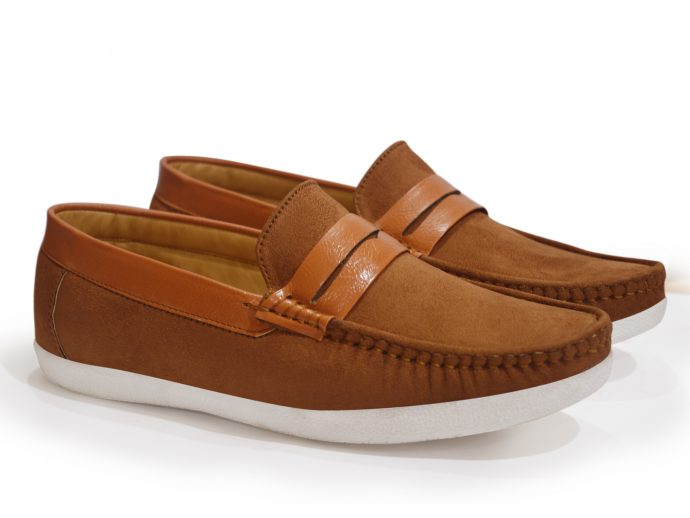 Tan Casual Khaki Loafers