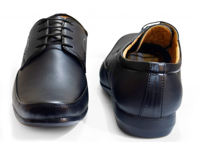 comfortable lace up black formal shoes