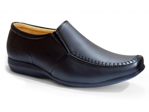 Black Office Shoes Man Without Lace