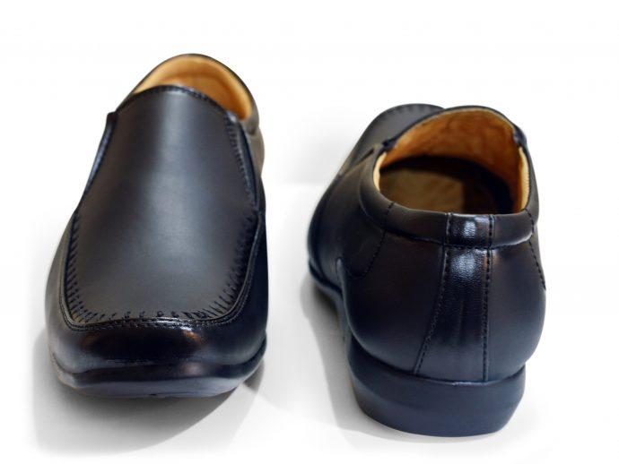 formal shoes for men black slip on