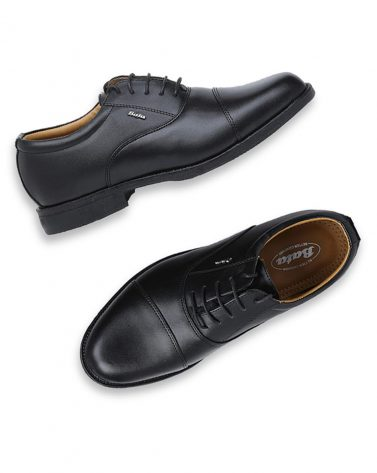 BATA Lace-Up Oxfords with Stacked Heel