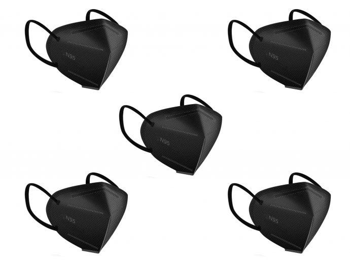 Black face mask N95