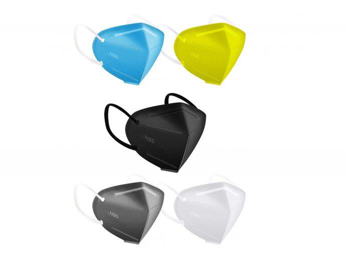 N95 AntiBacterial In Built Nose Pin ColourFul Mask
