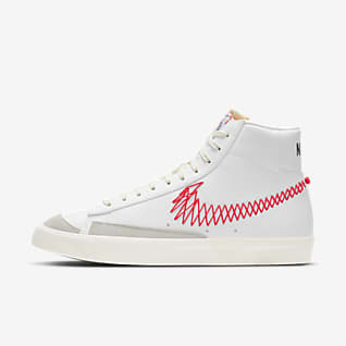 Nike men blazer shoes white red